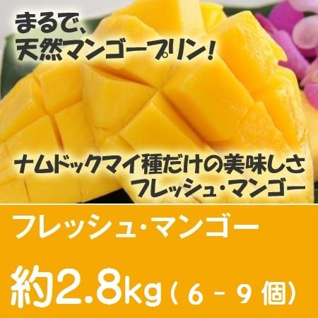 フレッシュ・マンゴー 約2.8Kg(6~9個)