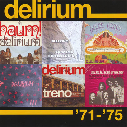 DELIRIUM/Delirium 71-75(Used 2CD) (1971-71/1-3th+Singles) (デリリウム/Italy)