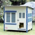 【スチール製屋外用キャットハウス】ガーデンキャットハウス 800HDX【810mm×710mm×H840mm】【キャットドアA付】【人気商品】
