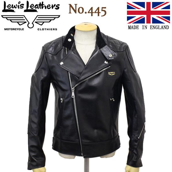 Lewis Leathers (ルイスレザー) No.445 SUPER MONZA HORSEHIDE (スーパーモンザ ホースハイド) ブラックレザー