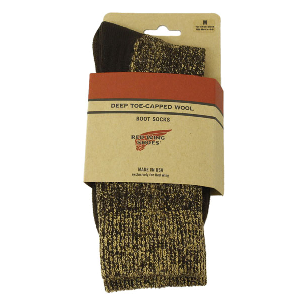 �����谷Ź RED WING(��åɥ�����) 97173 Deep Capped Toe Wool Socks(�ǥ����ץ���åץȥ����륽�å���) ���� Brown �֥饦��