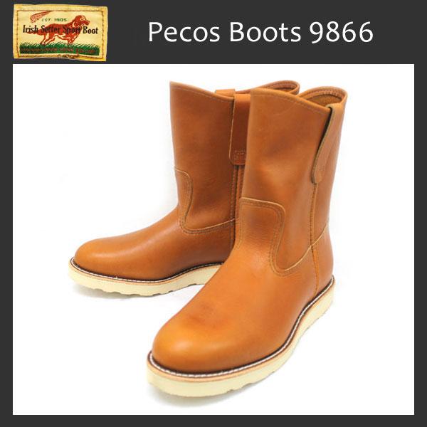 正規代理店 REDWING (レッドウィング) 9866 9inch PECOS BOOTS ペコスブーツ ゴールドラセットセコイア
