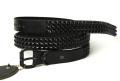 正規取扱HTC BLACK(HTCブラック)  BT01 3 Lines Black Pyramid Studs Black Belt(3連ブラックピラミッドスタッズブラックベルト)