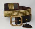 �����谷HTC #14S 5 row Small Pyramid Blass Studs Belt(5Ϣ���⡼��ԥ�ߥåɥ֥饹�����å��٥��) �������֥饦��ߥ֥饹�����å�