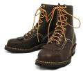Wescoウエスコ 正規ディーラー Jobmasterジョブマスター Brown, Semi Lace to Toe, 8height,Steel Toe,#430 sole