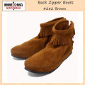 �����谷Ź MINNETONKA(�ߥͥȥ�)Back Zipper Boots(�Хå����åѡ��֡���)#282 BROWN SUEDE ��ǥ����� MT213