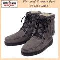 正規取扱店 MINNETONKA(ミネトンカ) Pile Lined Tramper Boot(ボア付きトランパーブーツ) #3531T GREY レディース MT255