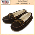 �����谷Ź MINNETONKA(�ߥͥȥ�) Cally Slipper(����꡼����å�) #4012 CHOCOLATE ��ǥ����� MT263