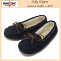 �����谷Ź MINNETONKA(�ߥͥȥ�) Cally Slipper(����꡼����å�) #4014 DARK NAVY ��ǥ����� MT264
