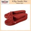 �����谷Ź MINNETONKA(�ߥͥȥ�) Kilty Suede Moc(����ƥ����������ɥ�å�) #406 RED ��ǥ����� MT029