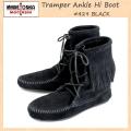 �����谷Ź MINNETONKA(�ߥͥȥ�)Tramper Ankle Hi Boot(�ȥ��ѡ� ����ϥ��֡���)#429 BLACK ��ǥ����� MT023