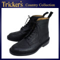 �����谷Ź Tricker's �ȥ�å����� 2508M COUNTRY BROGUE(����ȥ꡼�֥?��) ���֥�쥶�������� �֥�å������å����쥤�� TK015