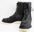 正規 Wescoウエスコ Jobmasterジョブマスター Black Rough Out, Semi Lace to Toe,All Black Stitch,10height,#1010sole JM33