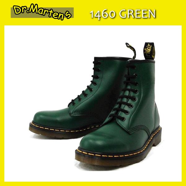 正規代理店 Dr.Martens ドクターマーチン 1460 8EYE BOOTS 8ホールブーツ GREEN グリーン