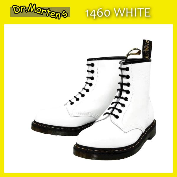 正規代理店 Dr.Martens ドクターマーチン 1460 8EYE BOOTS 8ホールブーツ WHITE ホワイト