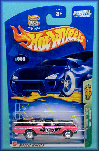 N-62★新品/送料無料 Hot Wheels 2003 Collector # 005 Treasure Hunts 5/12 '68 EL CAMINO★002