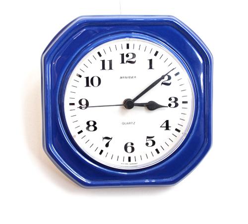 STAIGER             ビンテージ壁時計(ブルー)