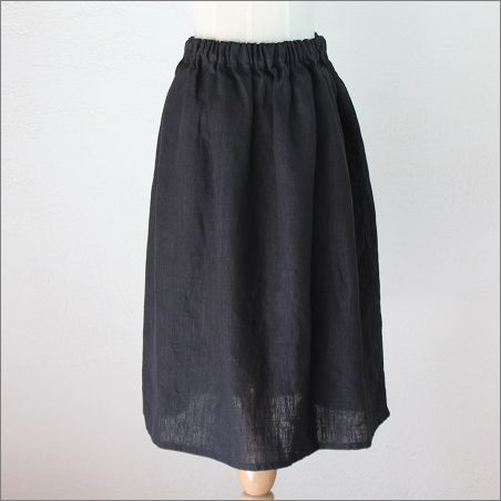 アネリ ギャザースカート             ブラック
