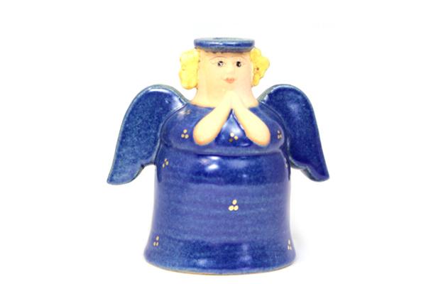 天使キャンドルホルダー/ブルー A