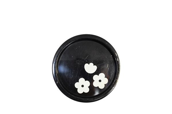 aarikka アーリッカ           花柄 トレイ Sサイズ/ ブラック