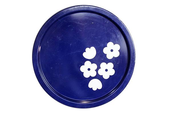 aarikka アーリッカ           花柄 トレイ Lサイズ/ ブルー