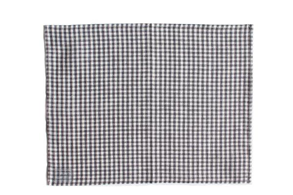 プレイスマット グレーホワイトチェック / fog linen work