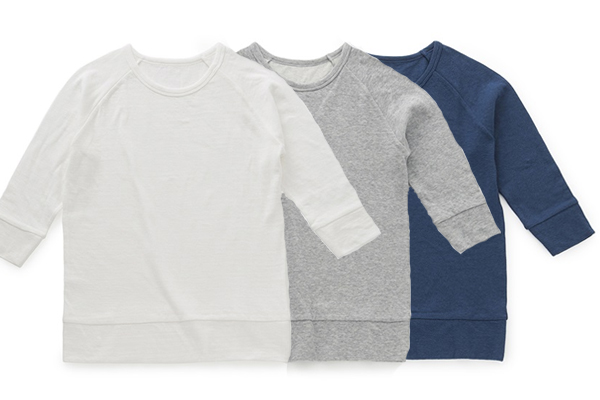 やわらか綿のTシャツ            ラグラン七分袖
