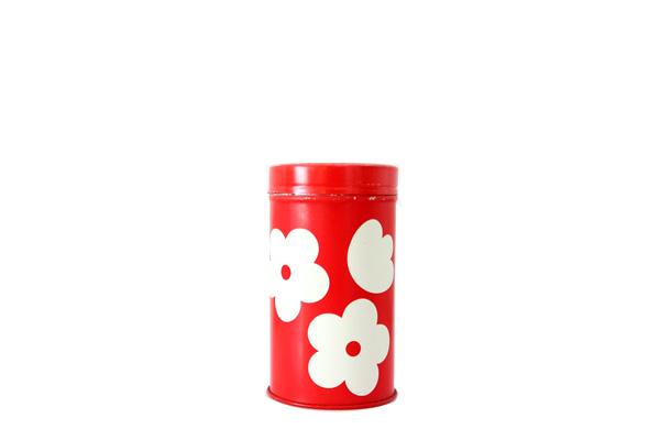 aarikka アーリッカ            スパイス缶/ 花柄レッド