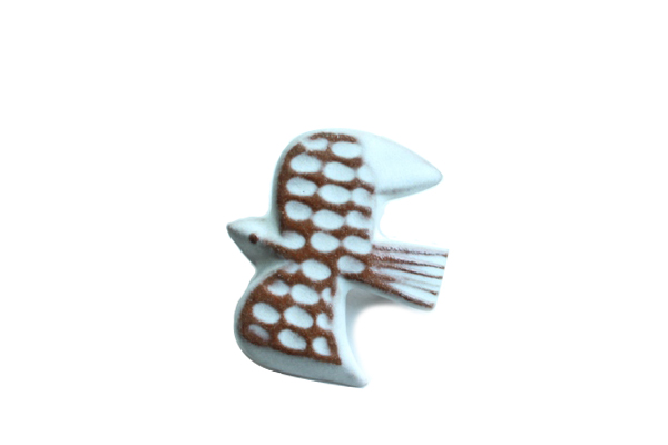 BIRDS' WORDS           BIRD TILE BROOCH
