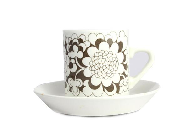 ARABIA gardenia           カップ&ソーサー(ブラウン A2)