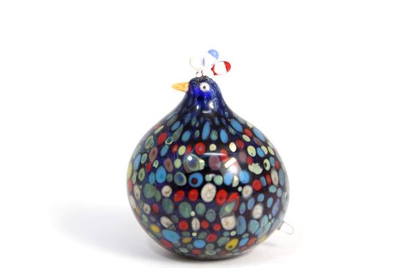 ガラスの鳥 ダークブルー系トサカ/ No.62