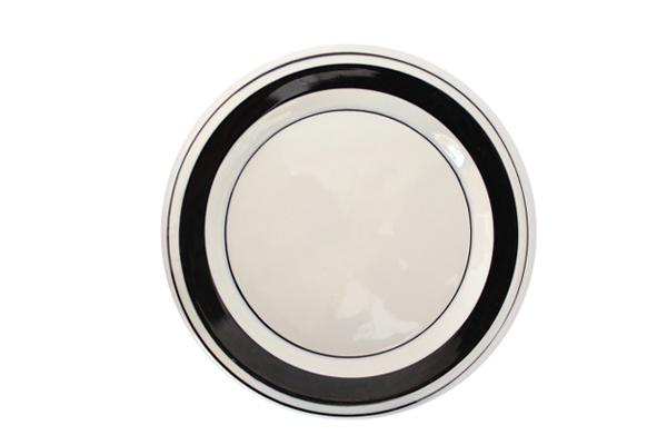 ARABIA Faenza            20cmプレート (ブラック4)
