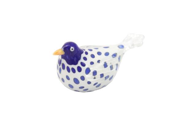 ガラスの鳥 クリアーホワイトブルー系 / No6