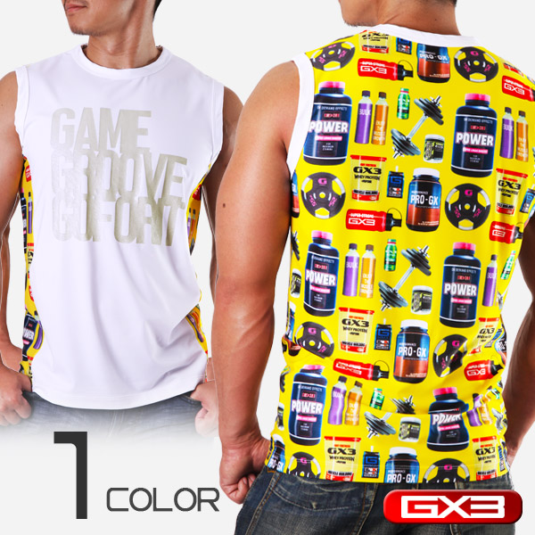 GX3 WEAR PRINT SLEEVELESS ノースリーブ