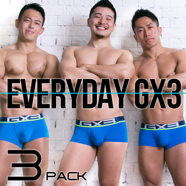 EVERYDAY GX3 BLUE BOXER 3PACK SET(3枚セット)