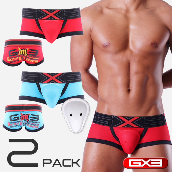 LIMITED EDITION 2PACK GX3 FIGHTER X CUP BOXER ボクサー(2枚セット)