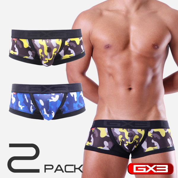2PACK GX3 SUPER PRINT MESH CAMOUFLAGE BOXER ボクサー(2枚セット)