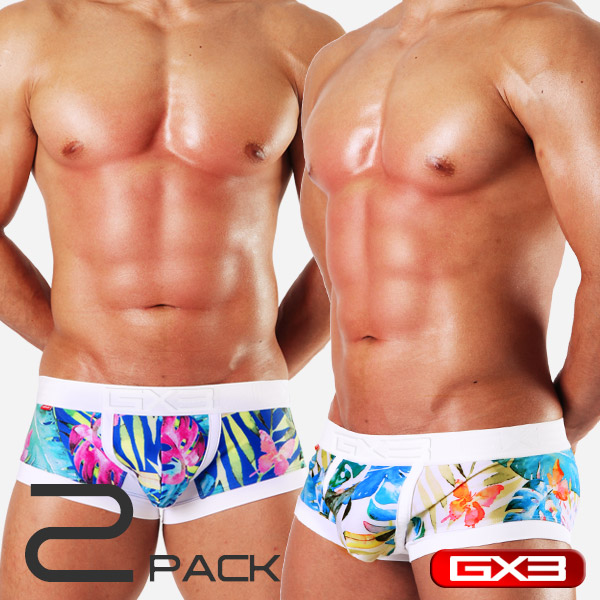 2PACK GX3 SUPER PRINT 2 JUNGLE BOXER ボクサー(2枚セット)