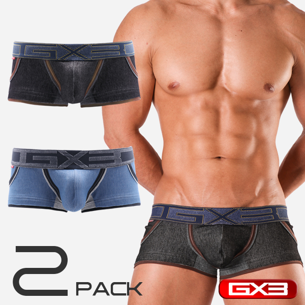 2PACK GX3 DENIMANIA POCKET BOXER ボクサー(2枚セット)