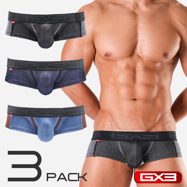 3PACK GX3 DENIMANIA SUPER LOWRISE BOXER ボクサー(3枚セット)