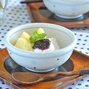 和食器・砥部焼 みずたまの玉ぶち鉢(3寸)