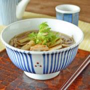 和食器・砥部焼 とくさみつ紋の丼鉢(5.2寸)