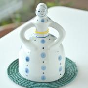 和食器・砥部焼 ベル人形(水玉)