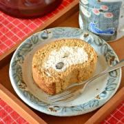 和食器・砥部焼 つばきのリム付皿(小)