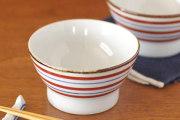 和食器・砥部焼 赤絵こま文の茶碗