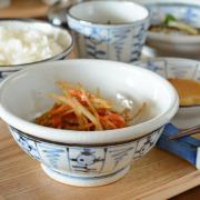和食器・砥部焼 なずな文の古砥部玉ぶち鉢(4寸)
