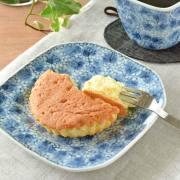 和食器・砥部焼 花唐草の角皿(5寸)