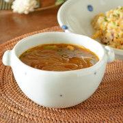 和食器・砥部焼 プチプチ柄の耳付スープカップ