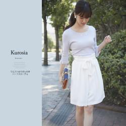 ウエストおりぼん付きハーフスカーチョ 【kurosia クローシア】 2017 tocco closet(トッコクローゼット) Collection