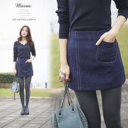 ステッチ入りミニスカート 【marrie マリー】 2016 tocco closet Collection